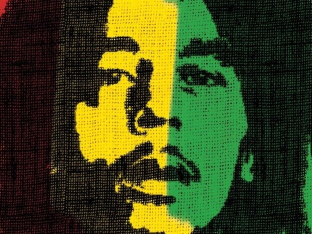 Detail from the Marley movie poster.