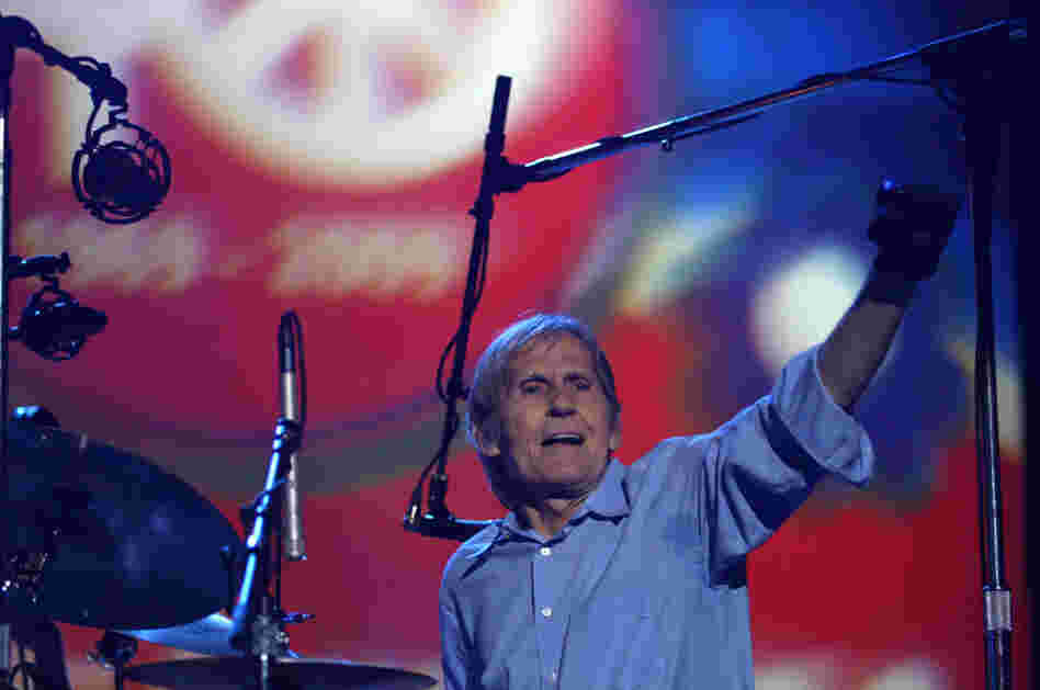 Levon Helm and the Levon Helm band perform during the Heros of Woodstock concert at Bethel Woods Center for the Arts in Bethel, N.Y. in 2009.