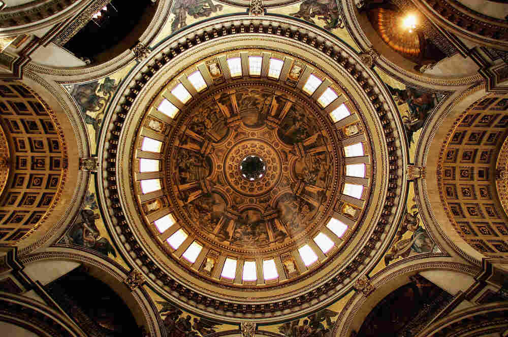 The dome of St. Paul's Cathedral in 2005 in London.