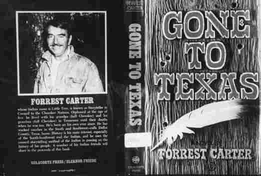 Forrest Carter's Western adventure novel Gone to Texas tells the fictional story of Josey Wales, an outlaw-to-be who loses his family and goes on to become the most wanted man in Texas.