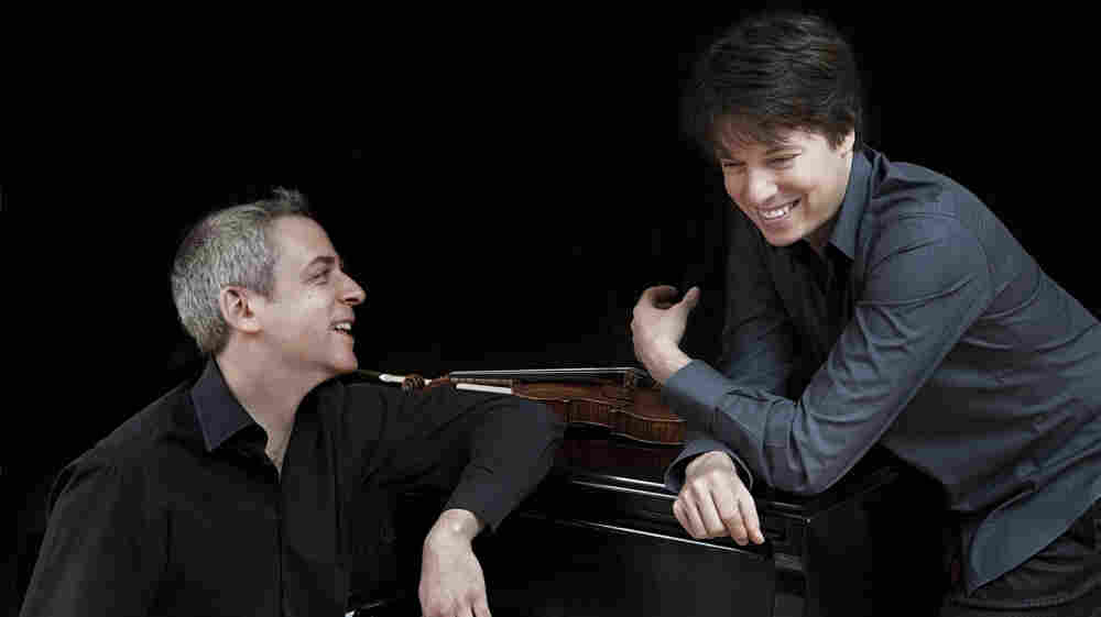 """""""I've thought to myself often listening to some classical works: 'I think I want to make a couple million dollars and turn that into a pop song,'"""" Joshua Bell (right) says, laughing. """"There's a lot of untapped potential there."""""""