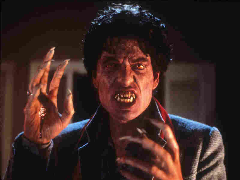 Traditional monster makeup helped transform actor Chris Sarandon in the 1985 version of Fright Night.