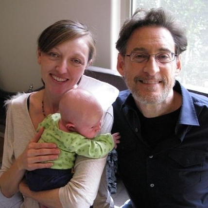 Pediatrician Harvey Karp with Anne Vanderpool and her son, 4-week-old Henry Wick.