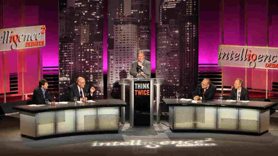 "A group of experts faced off on the motion ""When It Comes to Politics, the Internet Is Closing Our Minds"" at an Intelligence Squared U.S. debate on April 17 in New York City."