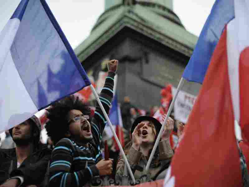 An estimated 100,000 Melanchon supporters gathered to hear the candidate speak at a rally at Paris' Bastille monument last month.