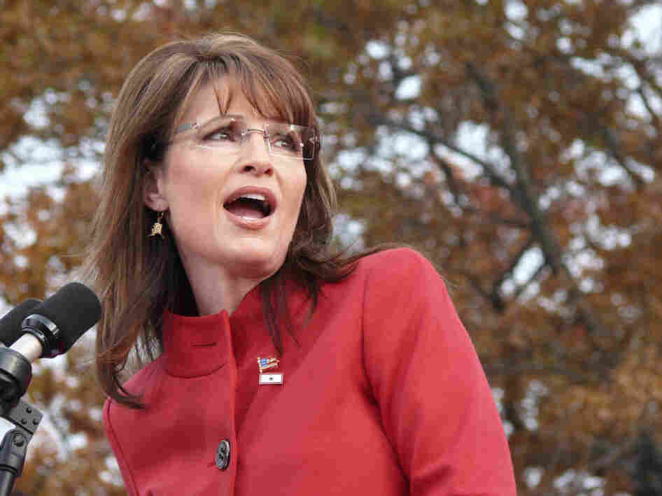 Sarah Palin, then the Republican vice presidential candidate, attends a rally in Lakewood, Ohio, on Nov. 3, 2008.