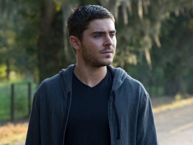 Zac Efron plays Logan, a former Marine with all kinds of feelings, in the new film The Lucky One.