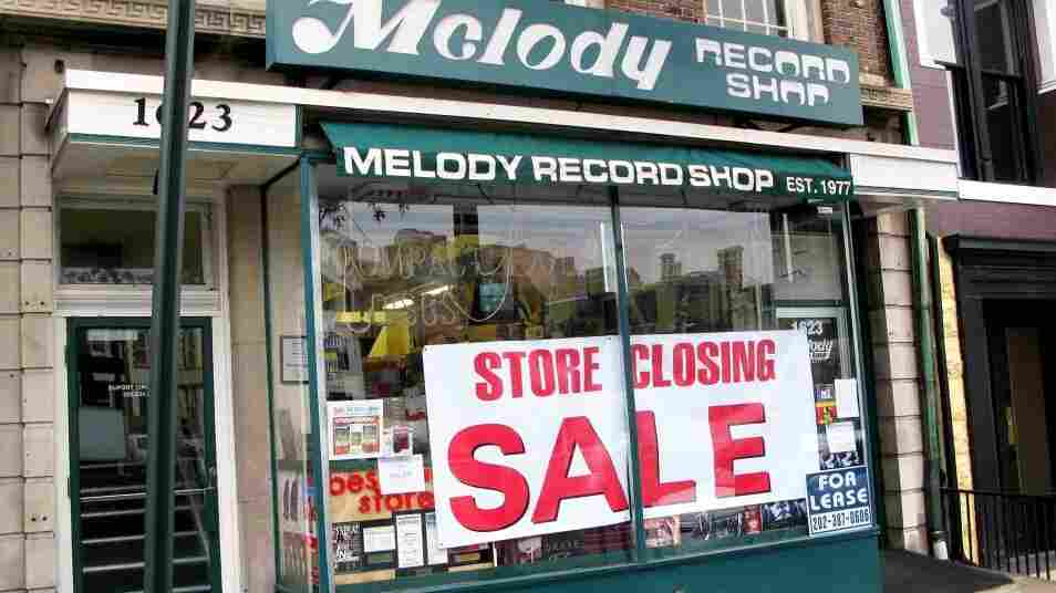 The Melody Records storefront in February.