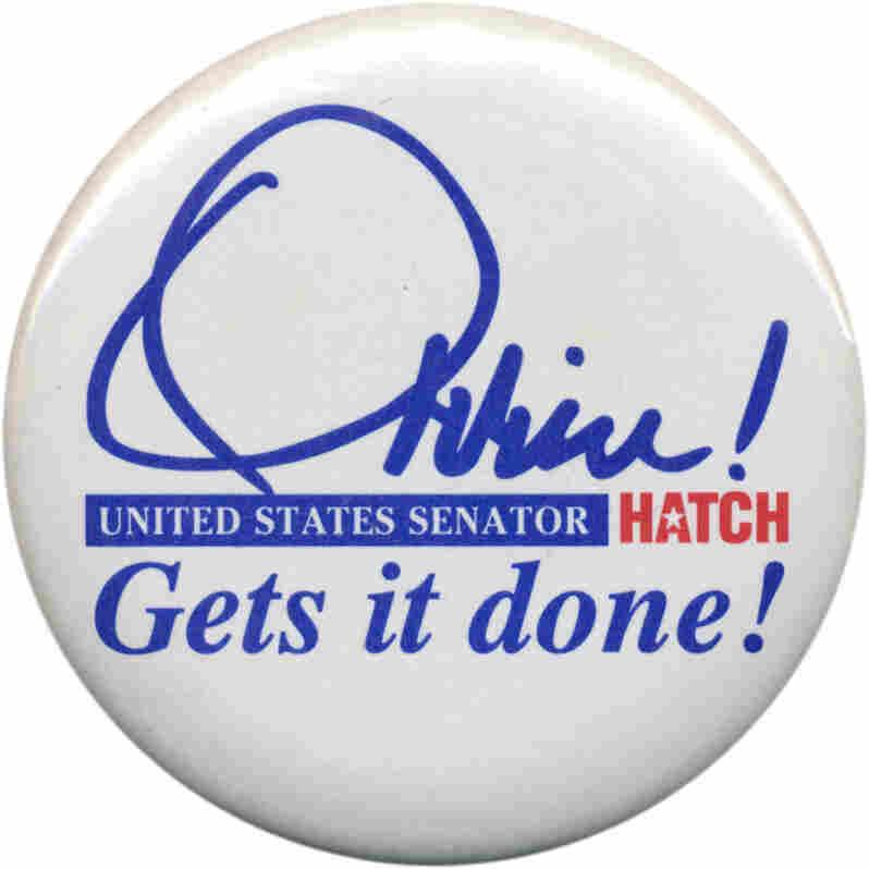 Orrin Hatch button