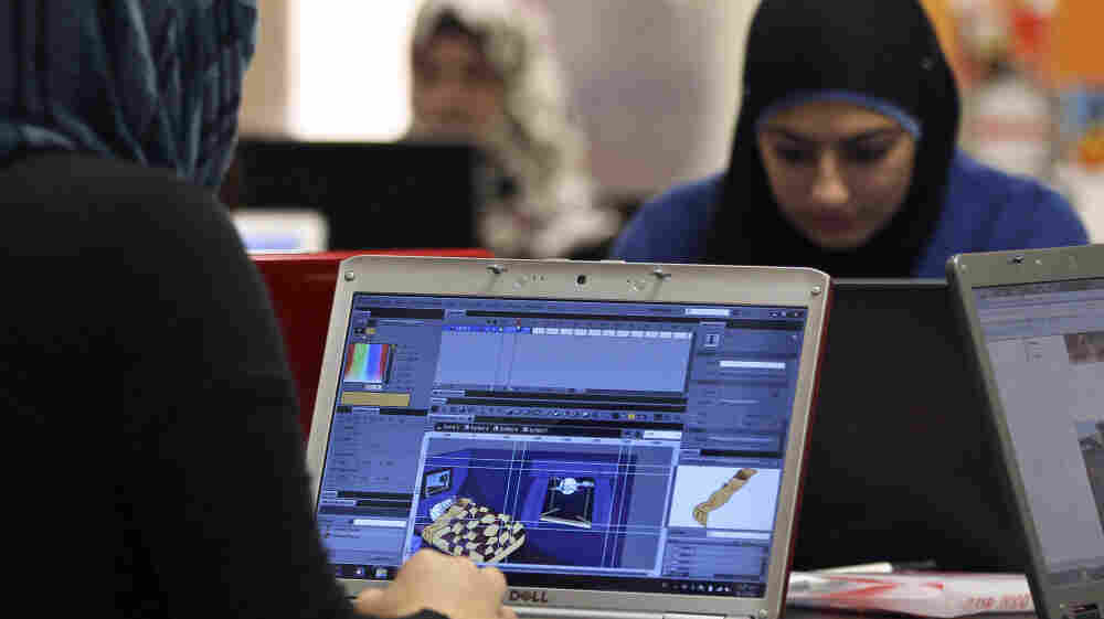 The political changes brought about by the Arab Spring have raised hopes among high-tech entrepreneurs that this will translate into an improved  business climate. Here, budding entrepreneurs work at Oasis 500, a seed investment firm in Amman, Jordan, on Nov. 2, 2011.