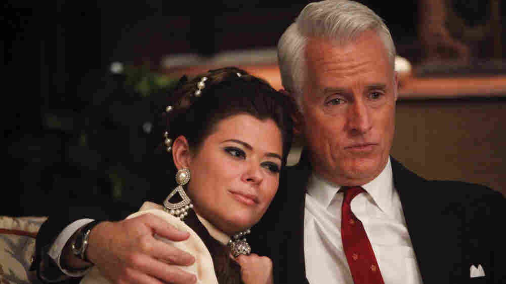 Jane Sterling (Peyton List) and Roger Sterling (John Slattery) ma