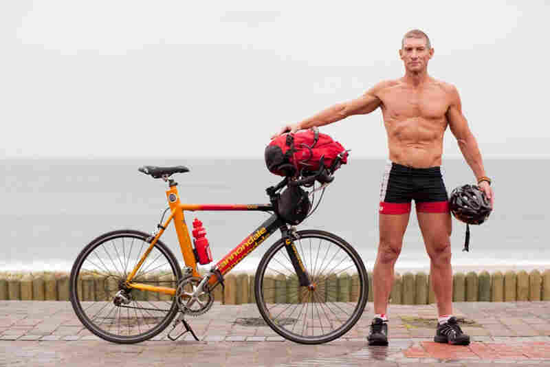 "Brandan Searle: ""I work at La Lucia Virgin Active. I'm a fitness manager there. I ride from where we live in North Beach, Durban out to the club every day. It's my mode of transport. I enjoy it. It certainly keeps me five-alive."""