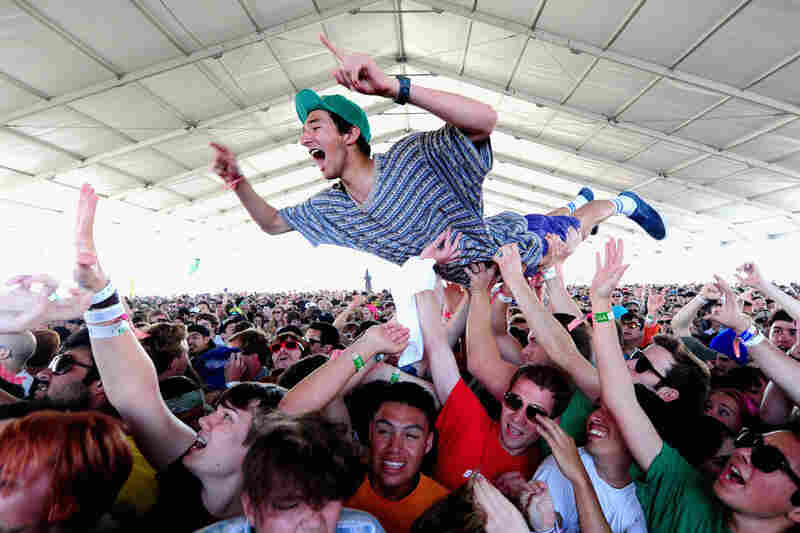 Concertgoers attend the Black Lips performance April 14.