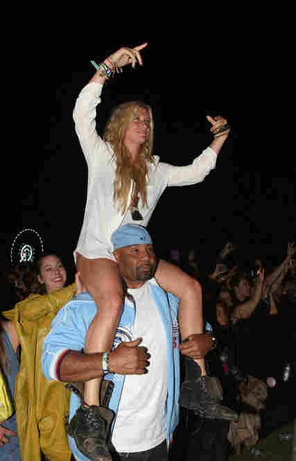 Ke$ha in the audience at Coachella on April 15.