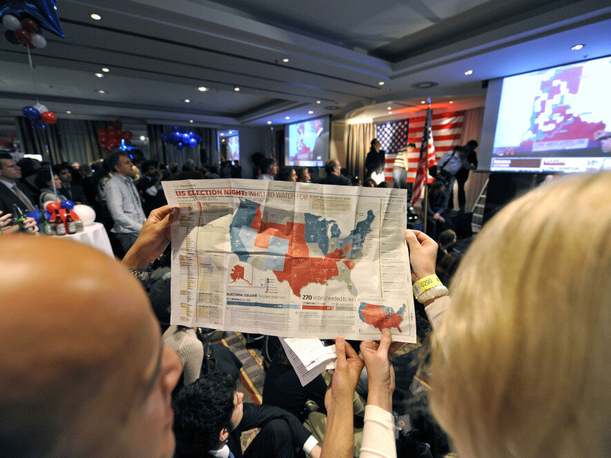Coloring In Electoral Map Until You Re Blue Or Red In The Face
