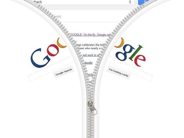 In honor of Gideon Sundback, a Google Doodle that zips.