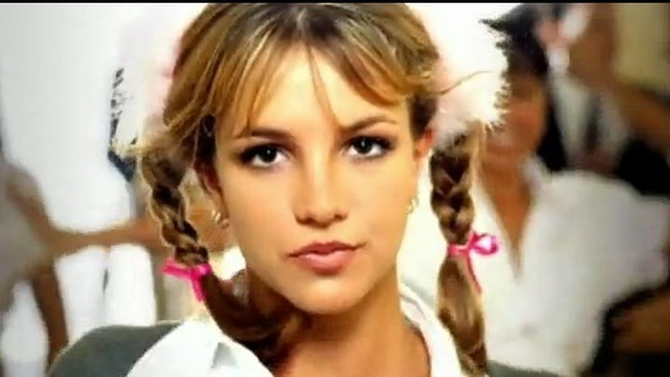 "A screencap from the Britney Spears video, ""...Baby One More Time."" ( )"