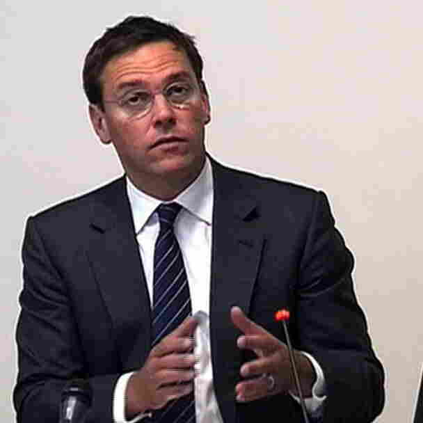 A video grab from pooled footage taken inside the Leveson Inquiry shows former News International executive chairman James Murdoch giving evidence at the High Court in London earlier today.
