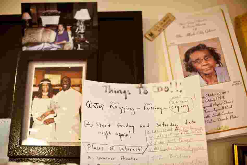 Natasha keeps inspirational notes and messages throughout her home to help her focus her thoughts.