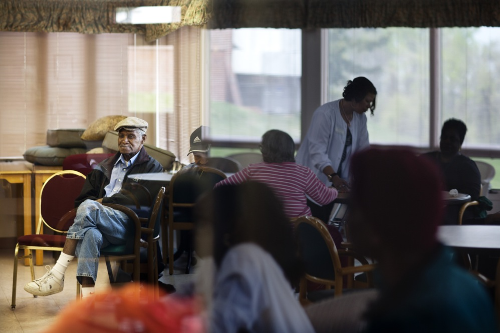 Franklin, who was a Safeway employee for over 40 years, spends his weekdays at the Crescent Ridge Adult Day Health Center.