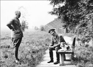 Adolf Hitler (right)