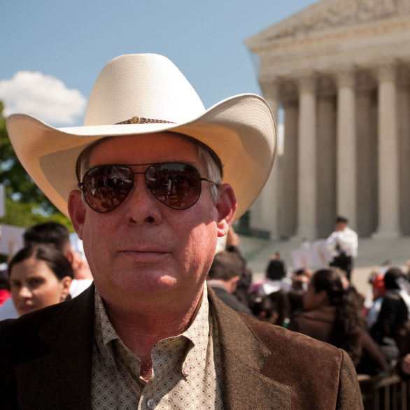 Sheriff Larry Dever of Cochise County, Ariz., attended the Supreme Court's oral arguments on Wednesday.
