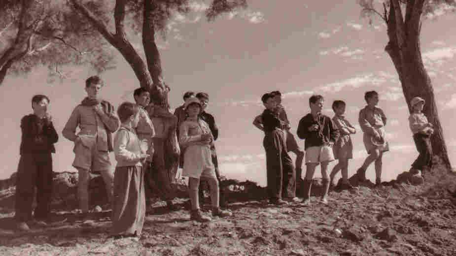 This 1948 photo shows children from Hulda, a collective community, or kibbutz, located in central Israel.