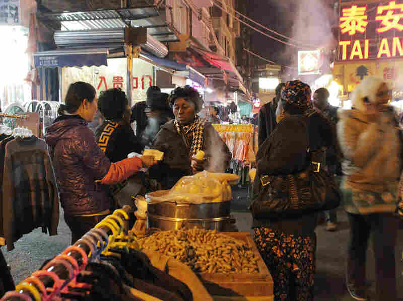 The Little Africa neighborhood in Guangzhou is dominated by African immigrants who run the shops and stalls, but many customers are Chinese.