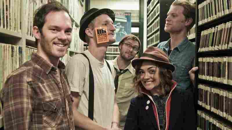 The Lumineers explore the KEXP studio.