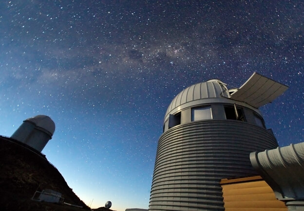 Looking for signs of Dark Matter at the ESO's La Silla Observatory in Chile.