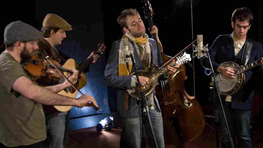 Punch Brothers' members perform in WFUV's Studio A in New York.