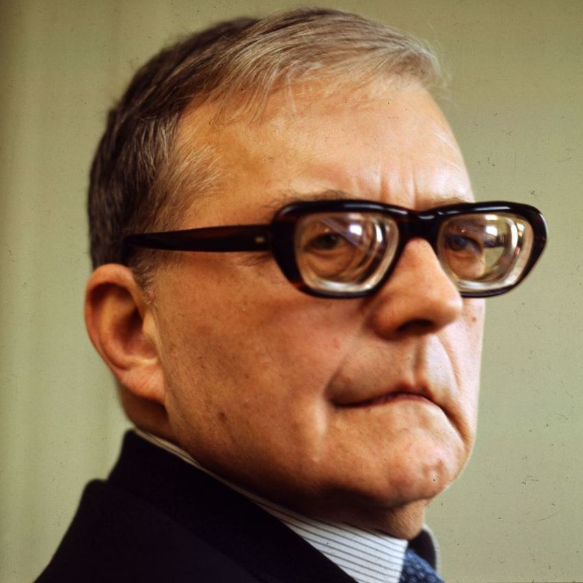 Dmitri Shostakovich, captured in a 1972 portrait.
