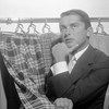 """Is """"slacks"""" the worst word in the English language? The New Yorker thinks so. Hollywood producer Robert Evans might disagree. He poses here with some of his most fashionable slacks in 1957."""