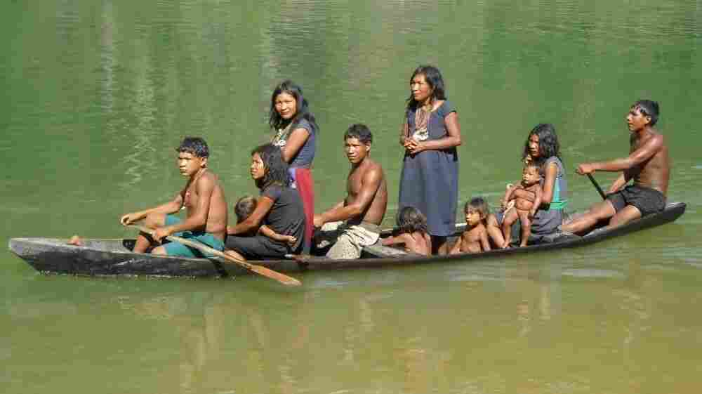 The Pirahã people live along the Maici River in Brazil's Amazon region.