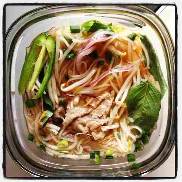 NPR's Keith Jenkins has been known to document an especially tasty meal, like this pho tai from Pho DC.