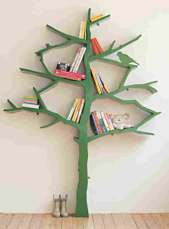 Tree Bookshelf: Designer Shawn Soh was inspired by childhood memories of sticking letters on tree branches.