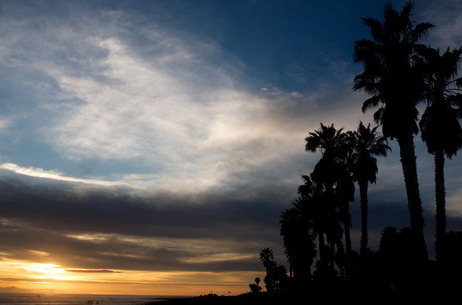The sunsets over Surfers Point in Ventura, Calif.