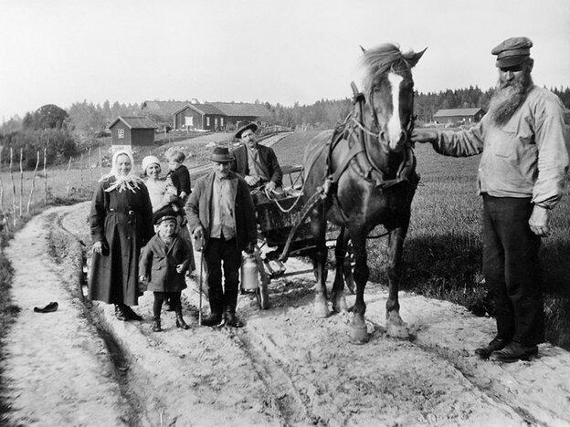 A family near Karsta, Sweden, in the 1930s.