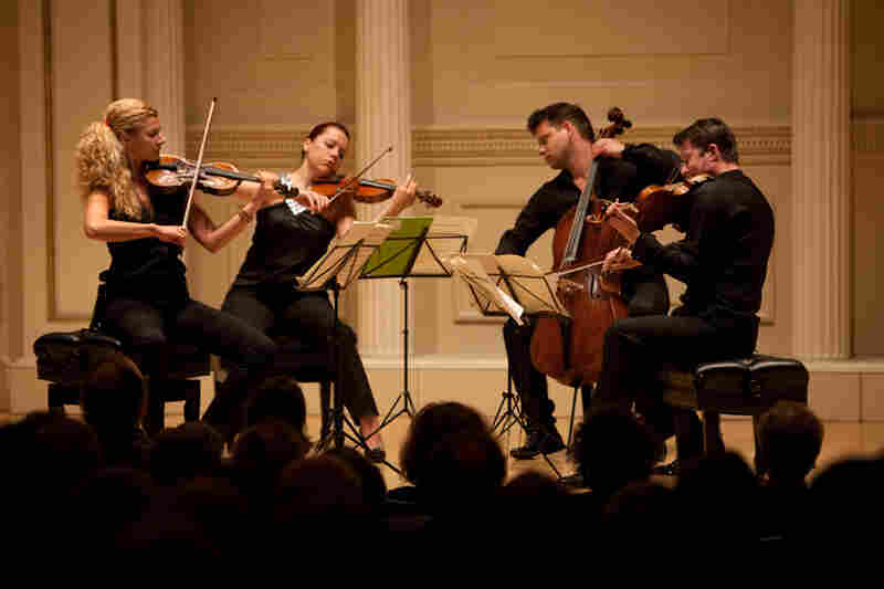 The Pavel Haas Quartet (Veronika Jaruskova and Eva Karova, violins; Pavel Nikl, viola; and Peter Jarusek, cello) gave an intimate and richly realized concert of music by Tchaikovsky, Shostakovich and Sm