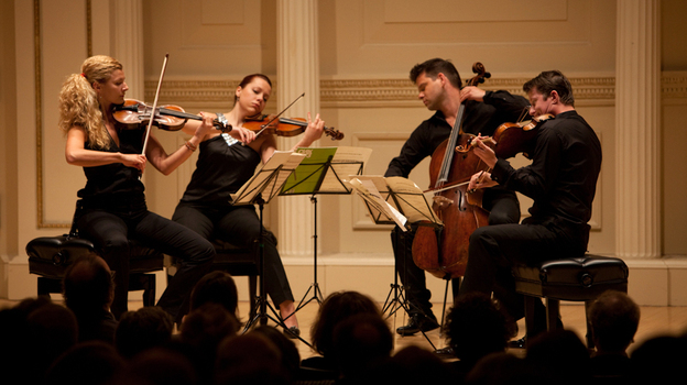 The Pavel Haas Quartet live at Carnegie Hall's Weill Recital Hall on April 27, 2012. (Melanie Burford for NPR)