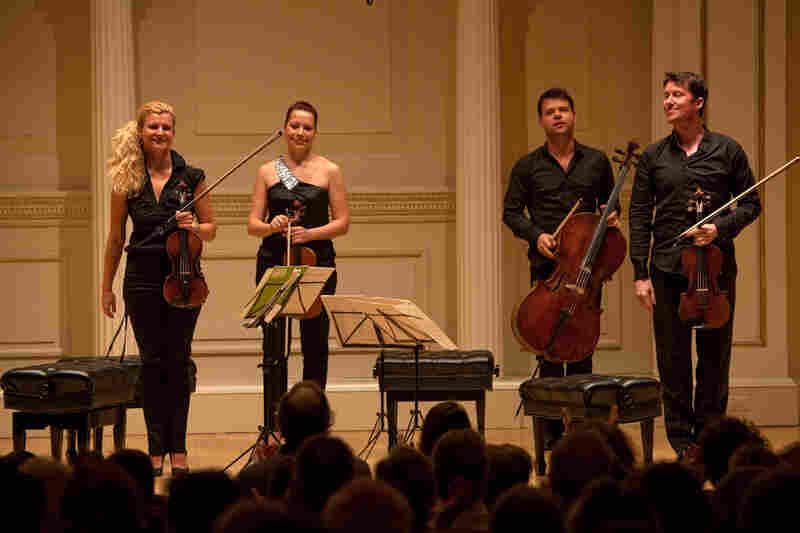 """The London Times has called the Pavel Haas """"the world's most exciting string quartet."""" At this concert, their riveting performance was warmly received."""