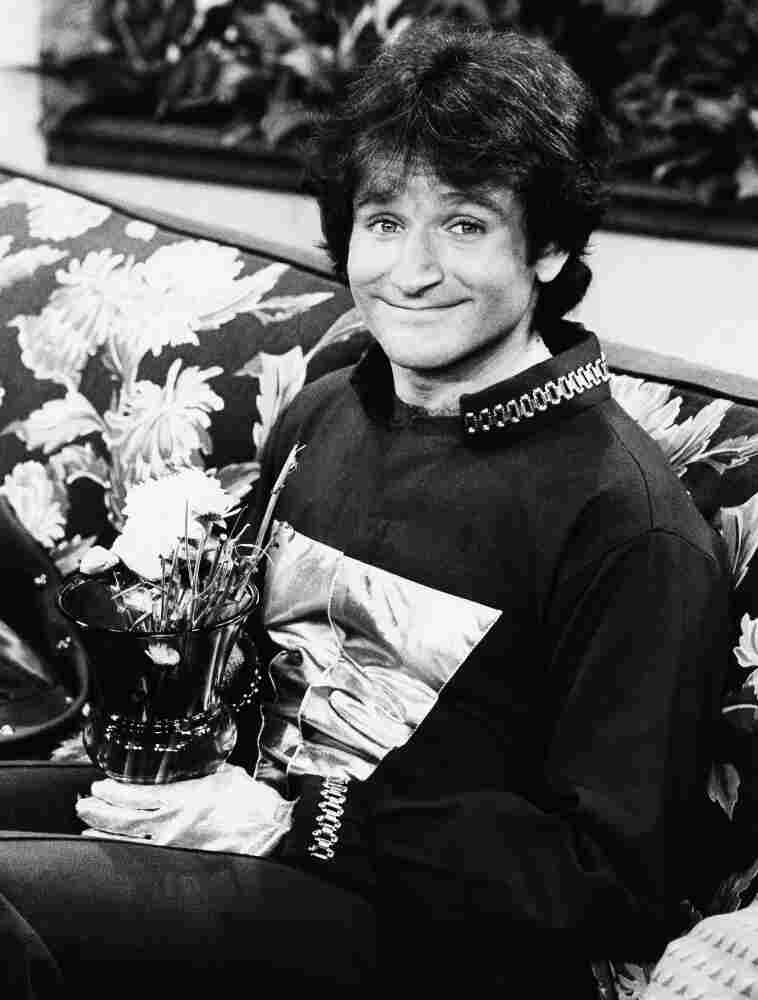 Actor Robin Williams on the set of ABC's Mork and Mindy, April, 1978.