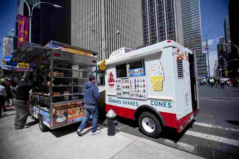 You should be located in an area with fewer food carts. If there are others, they should be complementary carts rather than competitors.