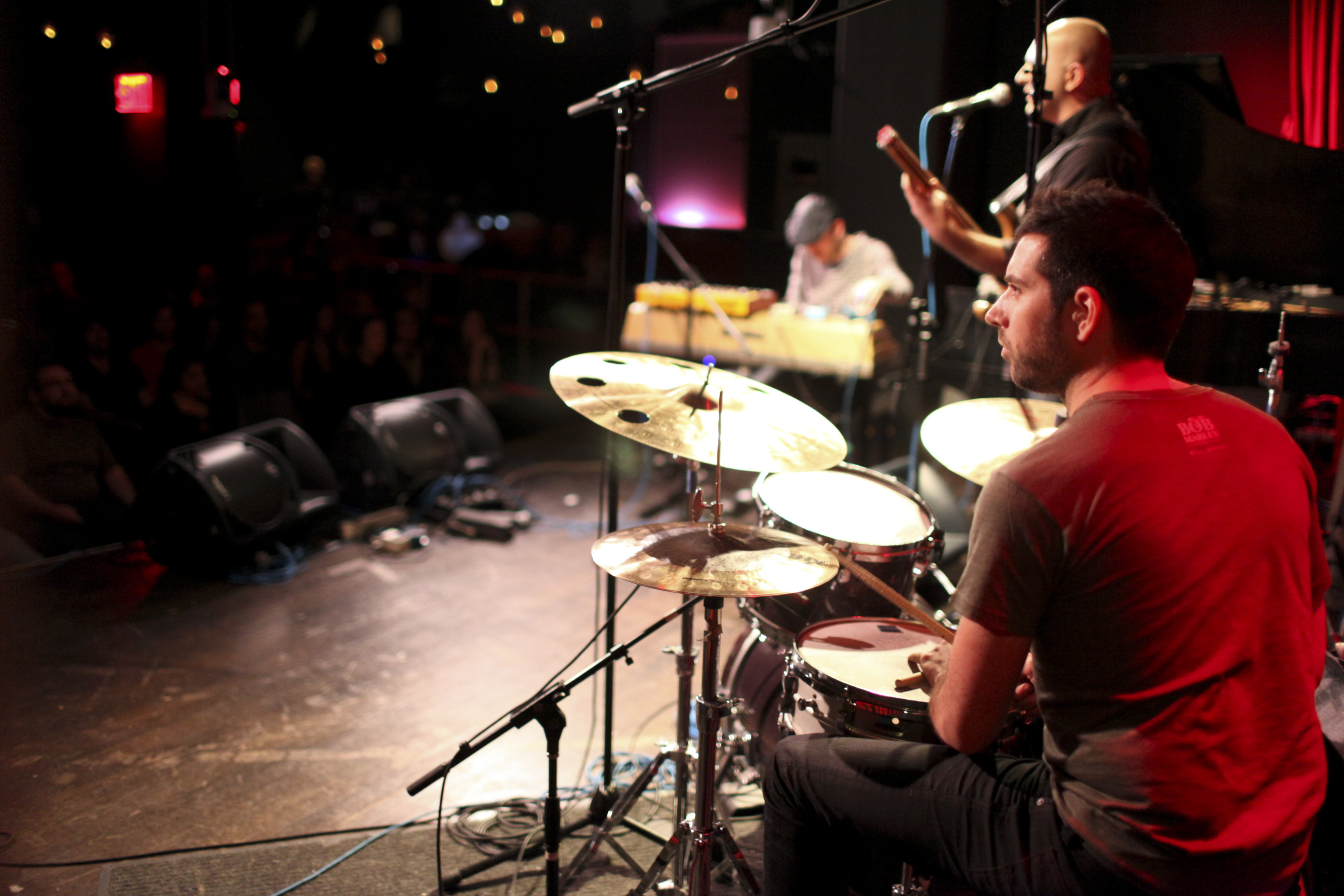 Drummer Mark Guiliana and the band.