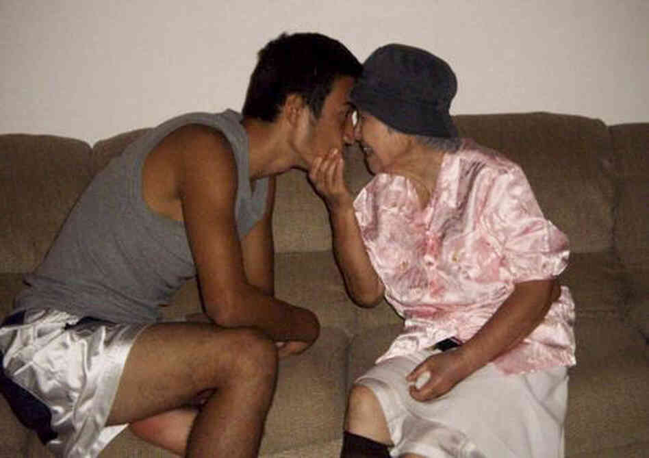 Yoshiko Okuyama of Keaau City, Hawaii sent in this photo of her 20-year-old son and her 82-year-old mother.