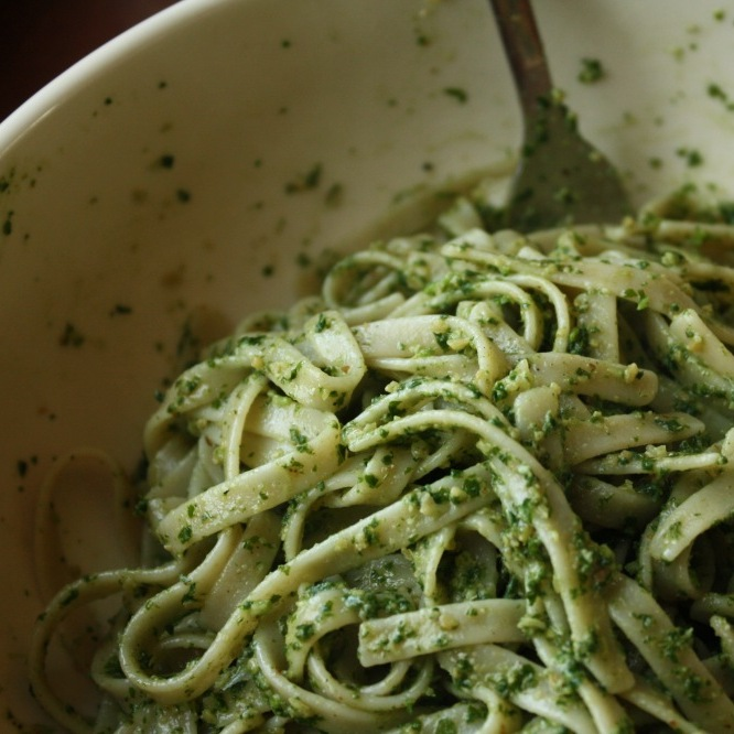 This pesto originated in the wilds of a Pittsburgh backyard.