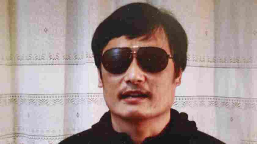Blind Chinese activist Chen Guangcheng is seen in a YouTube video posted on Friday.