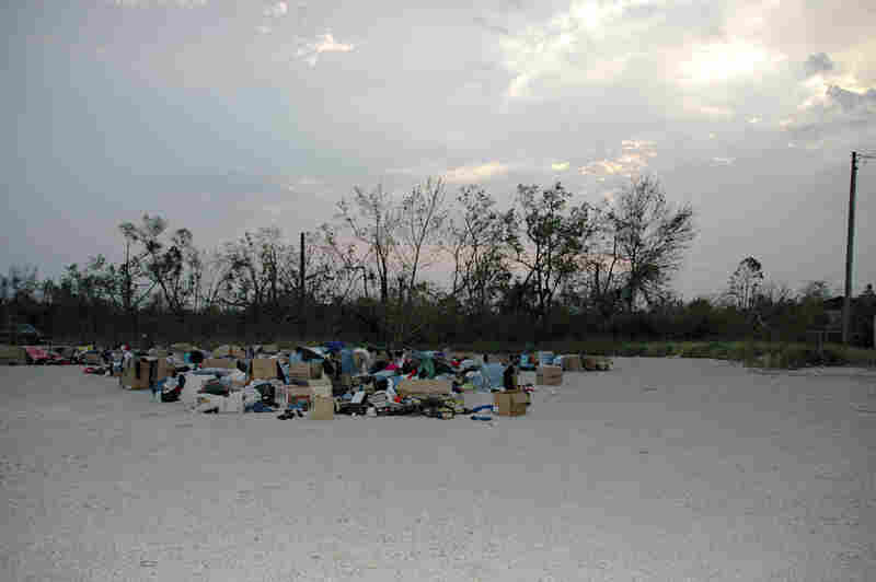 Clothes in Lot, Gulfport, Miss., 2005