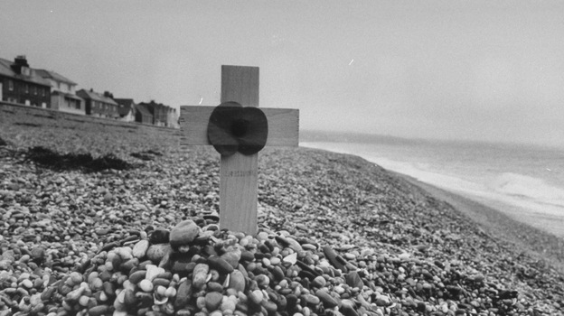 A disastrous rehearsal for D-Day took place on Slapton Sands in southwestern England. (Time & Life Pictures/Getty Image)