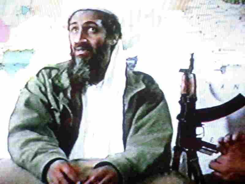 A video grab dated June 19, 2001 shows Osama bin Laden in a video tape said to have been prepared and released by bin Laden himself. The tape showed members al-Qaeida training at their al-Farouq base in Afghanistan.